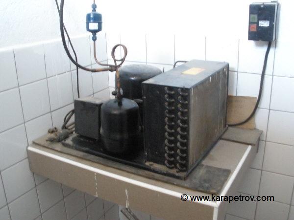 зидана хладилна камера - агрегат