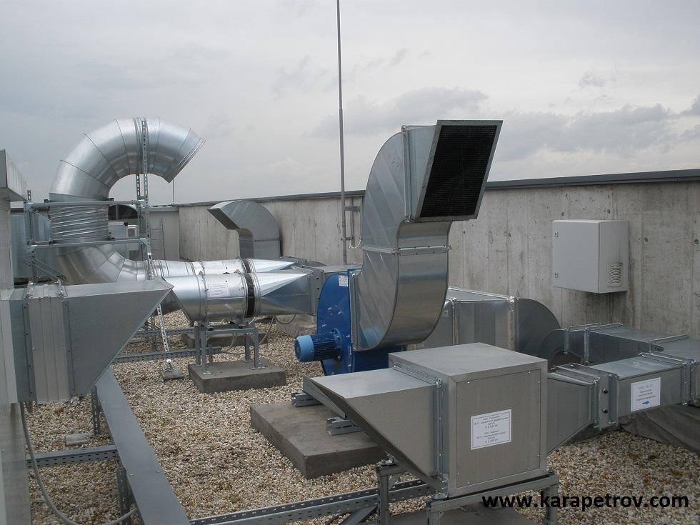 вентилатори на покрива